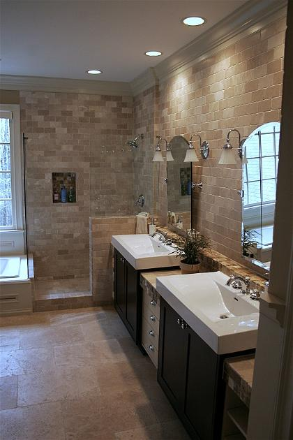 below you can find pictures of a master bathroom remodeling we did in
